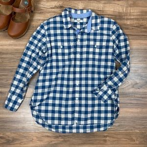 Madewell Gingham Plaid Button Up